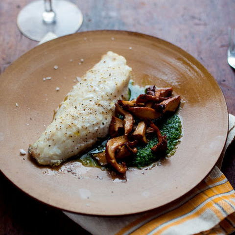 Cod With Chanterelles and Parsley Sauce