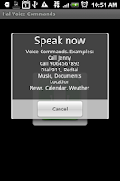 Screenshot of Hal Voice Commands