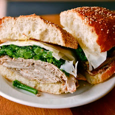 The Roast Pork with Broccoli Rabe and Provolone from Cutty's
