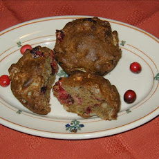 Cranberry Walnut Apple Muffins
