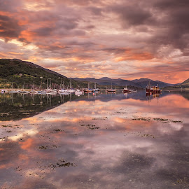 Ullapool Harbour by George Johnson - Landscapes Beaches