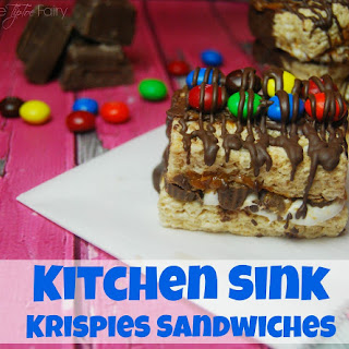 Kitchen Sink Krispies Sandwiches