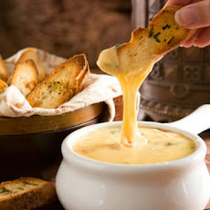 Gouda Cheese Fondue with Herbed Crostini