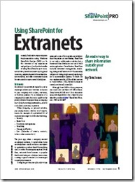 Using SharePoint for Extranets in Windows IT Pro magazine