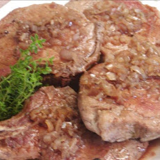 Pork Chops in Balsamic Vinegar and Shallot Sauce