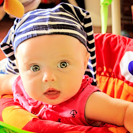 Pants on Head by Mary Withers Lawton - Babies & Children Children Candids ( babies )