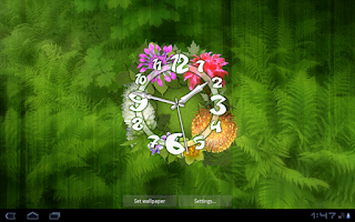 Screenshot of Flower Clock Live Wallpaper