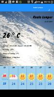 Screenshot of Ramalan Cuaca Malaysia