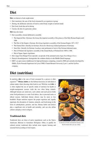 Top 10 Diets