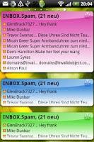 Screenshot of Email Widget