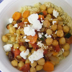 Moroccan Chickpea and Vegetable Stew with Couscous
