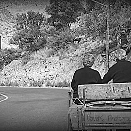 Always together by Simona David - People Couples ( black and white, black and white street photography, couple, street scene, old people, street photography,  )