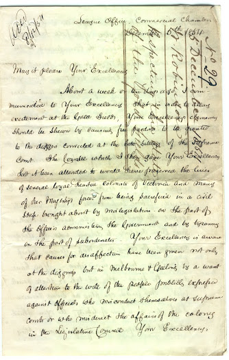 "This emotive letter from William Robinson to Lieutenant Governor Charles Hotham, dated 5 December 1854, expresses great disappointment over the events at the Stockade, and lays the blame for these events on misgovernment by officials. <a href=""http://wiki.prov.vic.gov.au/index.php/Eureka_Stockade:Letter_to_Hotham_from_William_Robinson"">Click here to see more of this record on our wiki</a>"