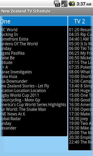 New Zealand Free TV Schedule