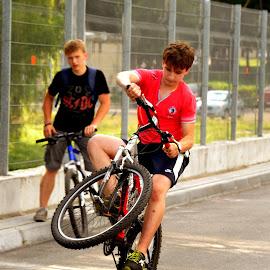 by Christina Baranska - Sports & Fitness Cycling ( wow, cycling, likes, sport, boy )