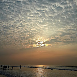 From Sunrise To Sunset..Beauty Creates Every Moment..  by Partha Majumder - Novices Only Landscapes ( sunset, beautiful, digha, sunrise, beach )