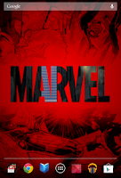Screenshot of Marvel Heroes Live Wallpaper