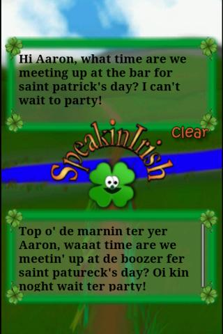 Speakin' Irish