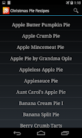 Screenshot of Pie Recipes