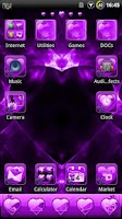 Screenshot of Valentine Purple GO Theme
