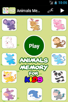 Screenshot of Animals Memory for Kids