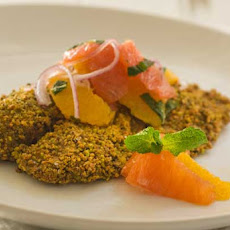 Gluten Free Pistachio Crusted Tilapia with Citrus Salsa