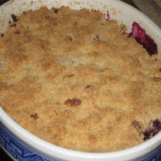 Blueberry Rhubarb Crisp With Pistachio Crust