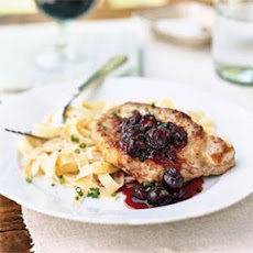 Pork Chops with Cherry Preserves Sauce