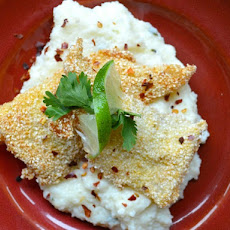 Fried Fish with Cheddar-Thyme Grits