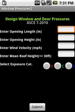 Window Pressures