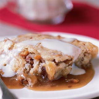 Date-Nut Pudding Cake with Vanilla Sauce