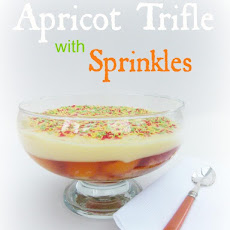 Apricot Trifle with Sprinkles