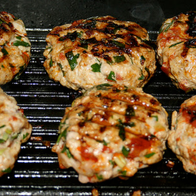 Fresh Garlic, Chorizo & Pork Burgers