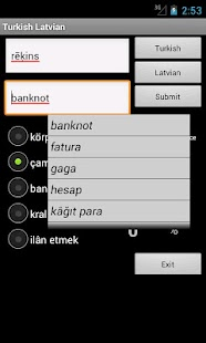 Turkish Latvian Dictionary - screenshot
