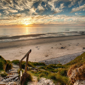 And it was a smasher! by Nat Parnell - Landscapes Beaches