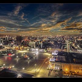 Ulaanbaatar by Ido Nyamsuren - City,  Street & Park  Night ( ub )