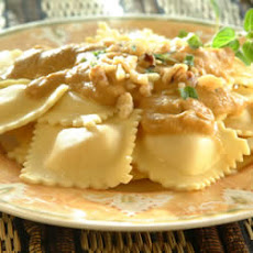 Cheese Ravioli with Pumpkin Sage Sauce