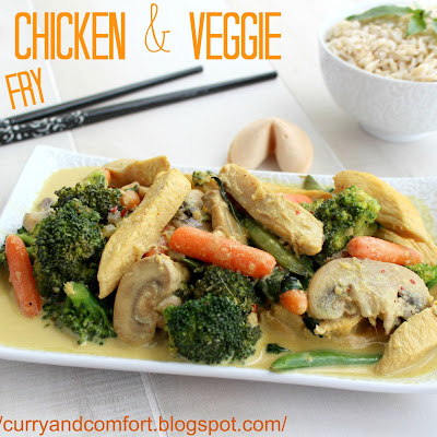 Thai Chicken Curry Veggie Stir Fry