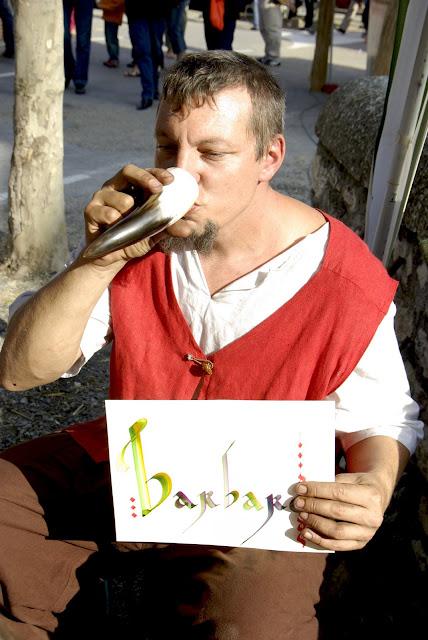Fête médiévale à Cruas (Ardèche) - Et le résultat est excellent ! Digne des écritures des moines de l'époque.