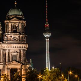 Berlin by night by Alex Jaime - Buildings & Architecture Statues & Monuments ( tv tower, dom, germany, cathedral, berlin, alexanderplatz )