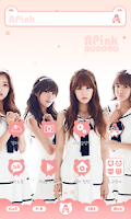 Screenshot of A-pink pink ver dodol theme