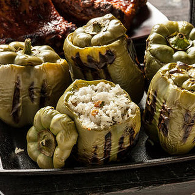 Stuffed Bell Peppers with Feta and Herbs