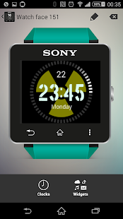 Radioactive Clock widgets SW2 - screenshot