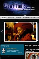 Screenshot of StarTalk Radio
