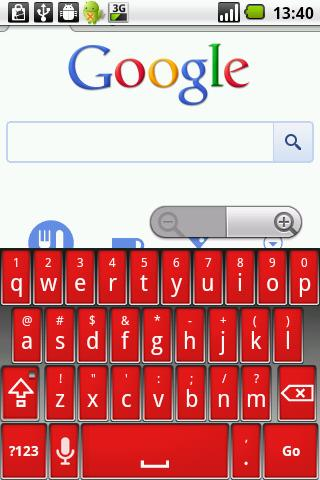 Elegant Red Keyboard Skin