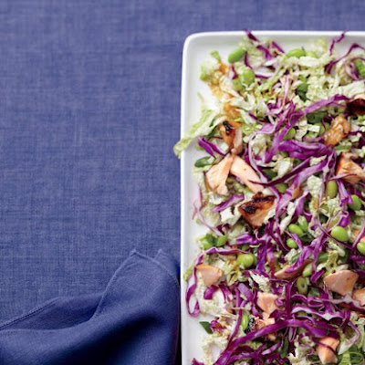 Shredded Cabbage and Salmon Salad