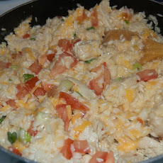Velveeta Cheesy Chicken & Rice Skillet