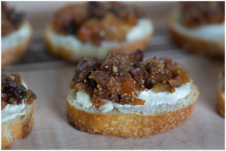 Apricot and Fig Tapenade on Goat Cheese Crostini Recipe | Yummly