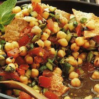 Chickpea And Pitta Salad