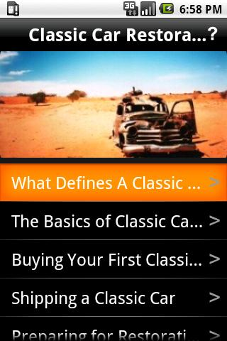 Classic Car Restoration Guide